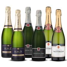 Buy & Send Mixed Case Champagne 6 x 75cl - comprises 2 x Taittinger, 2 x H Blin, 2 x Chassenay