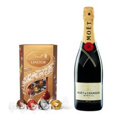 Buy & Send Moet & Chandon Brut Imperial With Lindt Lindor Assorted Truffles 200g
