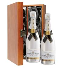 Buy & Send Moet and Chandon Ice White Imperial 75cl Double Luxury Gift Boxed Champagne (2x75cl)