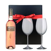 Buy & Send Moment de Plaisir Cinsault Rose and  Bohemia Royal Crystal Glasses in a Gift Box