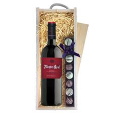 Buy & Send Monte Real Tempranillo Bodegas Riojanas  - Spain & Truffles, Wooden Box