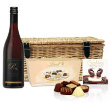 Buy & Send Penny Lane Reserve Pinot Noir And Heart Chocolates Hamper