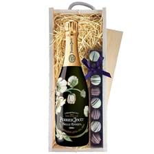 Buy & Send Perrier Jouet Belle Epoque 2012 & Truffles, Wooden Box