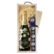 Buy & Send Perrier Jouet Belle Epoque 2012 75cl & Truffles, Wooden Box