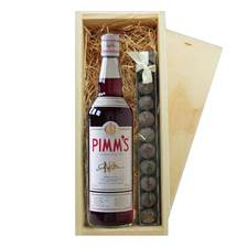Buy & Send Pimms No1 & Truffles Wooden Box