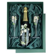 Buy & Send Perrier Jouet Belle Epoque Brut, Vintage, 2012 in Green Presentation Set With PJ Flutes