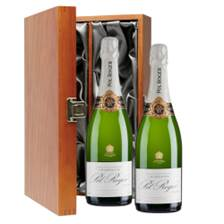 Buy & Send Pol Roger Brut Reserve Champagne 75cl Double Luxury Gift Boxed Champagne (2x75cl)