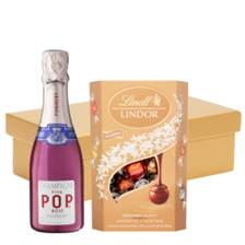 Buy & Send Pommery Pink POP Rose 20cl And Chocolates In Gift Hamper