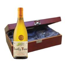 Buy & Send Pouilly Fuisse Auvigue In Luxury Box With Royal Scot Wine Glass