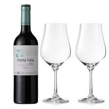 Buy & Send Puerta Vieja Rioja Tinto And Crystal Classic Collection Wine Glasses
