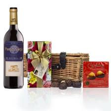 Buy & Send Puerta Vieja Tinto Reserva And Valentines Chocolates Hamper