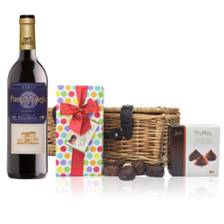 Buy & Send Puerta Vieja Tinto Reserva Bodegas Riojanas  - Spain And Chocolates Hamper