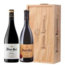 Buy & Send Monte Real Crianza & Monte Real Reserva de Femilia Wooden box
