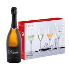 Buy & Send Revilo Prosecco 75cl With A Set Of 4 Spiegelau Prosecco Glasses