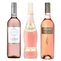 Buy & Send Rose Wine Treble Set