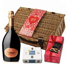Buy & Send Ruinart Pink Valentines Chocolate Hamper