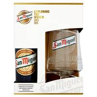 Buy & Send San Miguel Lager Gift Set with Chalice Glass