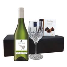 Buy & Send South Island Sauvignon Blanc - New Zealand, Flute And Chocolate Gift box