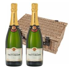 Buy & Send Taittinger Brut Champagne 75cl Twin Hamper (2x75cl)