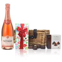 Buy & Send Taittinger Brut Prestige Rose NV Champagne 75cl And Chocolates Hamper