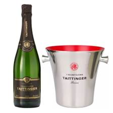 Buy & Send Taittinger Brut Vintage 2014 Champagne 75cl And Branded Ice Bucket Set