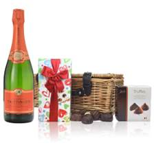 Buy & Send Taittinger Les Folies de la Marquetterie Champagne And Chocolates Hamper