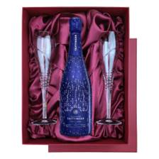 Buy & Send Taittinger Nocturne City Lights Edition in Blue Luxury Presentation Set With Flutes