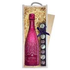 Buy & Send Taittinger Nocturne Rose City Lights Edition & Truffles, Wooden Box