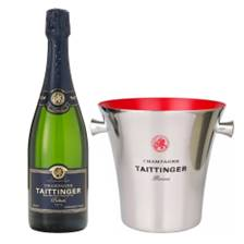 Buy & Send Taittinger Prelude Grands Crus 75cl And Branded Ice Bucket Set