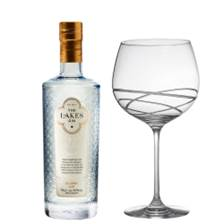Buy & Send The Lakes Gin 70cl And Single Gin and Tonic Skye Copa Glass