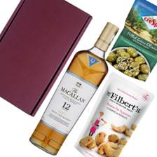 Buy & Send The Macallan 12 YO Triple Cask Malt Whisky Nibbles Hamper