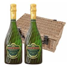 Buy & Send Tsarine Premier Cru Brut Champagne 75cl Twin Hamper (2x75cl)