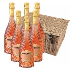 Buy & Send Tsarine Rose NV 75cl Champagne Case of 6 Hamper