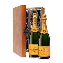 Buy & Send 2 x Veuve Clicquot Brut Double Luxury Gift Boxed Champagne