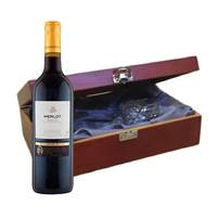 Buy & Send Valentin Fleur Merlot In Luxury Box With Royal Scot Wine Glass