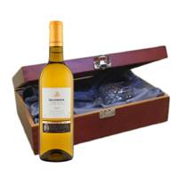 Buy & Send Valentin Fleur Sauvignon Blanc - France In Luxury Box With Royal Scot Wine Glass