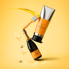 Buy & Send Veuve Clicquot Yellow Label Brut 75cl Champagne - Gorache Gift Box