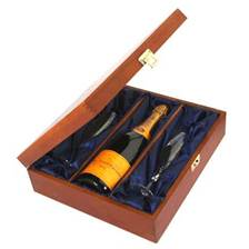 Buy & Send Veuve Clicquot Champagne and Flutes in Luxury Presentation Box
