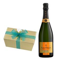 Buy & Send Veuve Clicquot Vintage 2008 75cl With Selection Of Milk, White And Dark Belgian Chocolates 460g