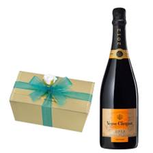 Buy & Send Veuve Clicquot Vintage 2012 75cl With Selection Of Milk, White And Dark Belgian Chocolates 460g