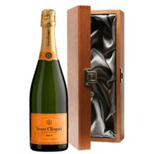 Buy & Send Veuve Clicquot Yellow Label Brut Champagne 75cl in Luxury Gift Box