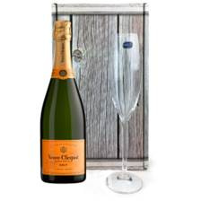 Buy & Send Veuve Clicquot Yellow Label Brut Champagne 75cl, And Single Flute Gift box