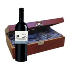 Buy & Send Vinoir Merlot - Chile In Luxury Box With Royal Scot Wine Glass