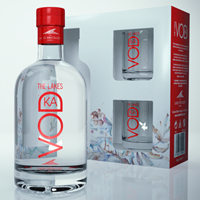 Buy & Send The Lakes Vodka Gift Pack with Glasses