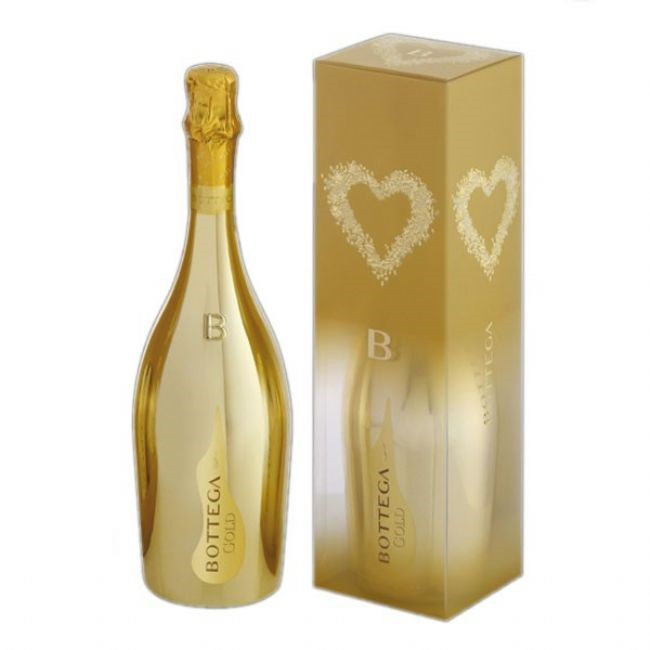 bottega gold prosecco 75cl gift boxed